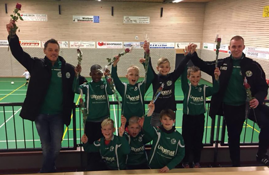 Heerenveense Boys JO11-1 zaalkampioen 2017-2018