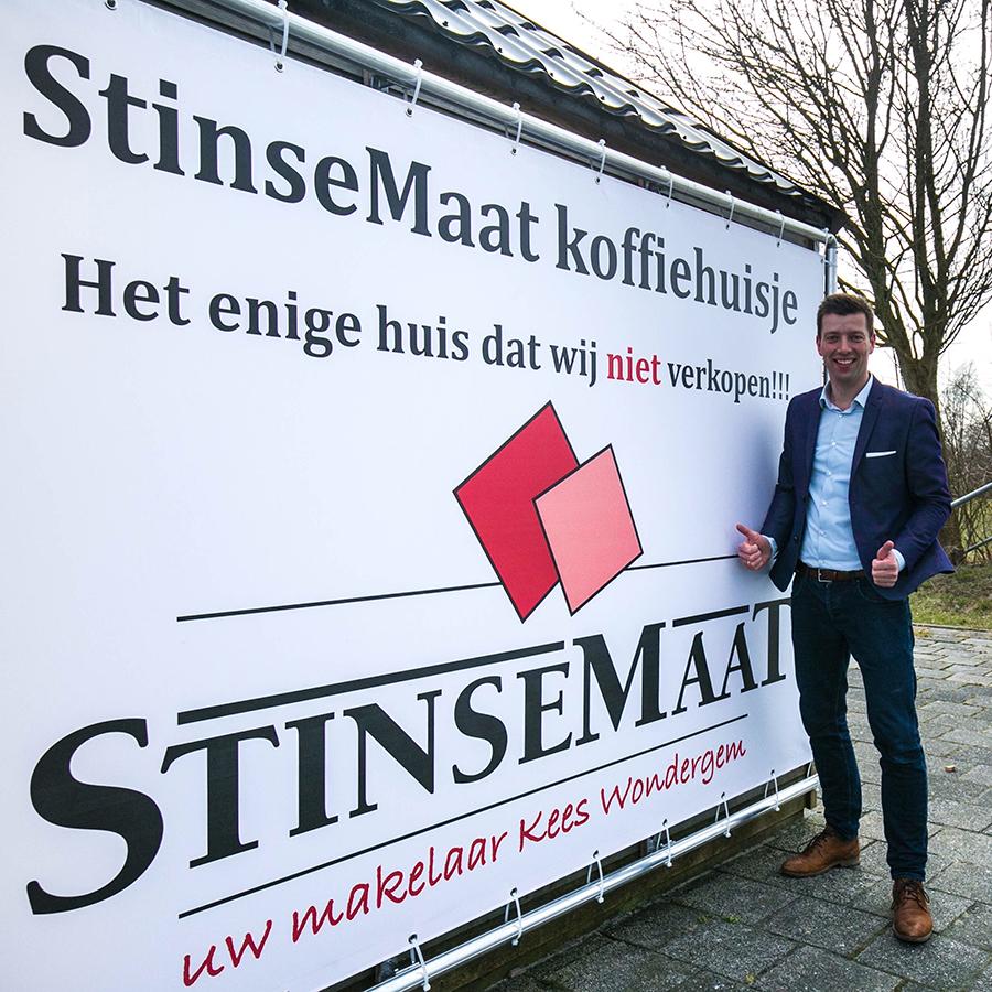 StinseMaat makelaardij sponsor van het koffiehuisje van Heerenveense Boys