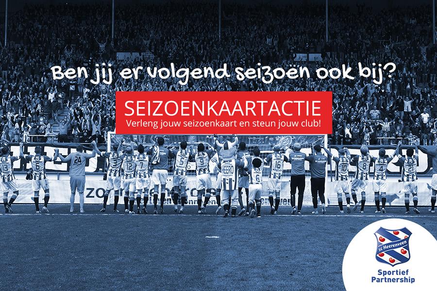 Seizoenkaartactie sc Heerenveen 2018-2019