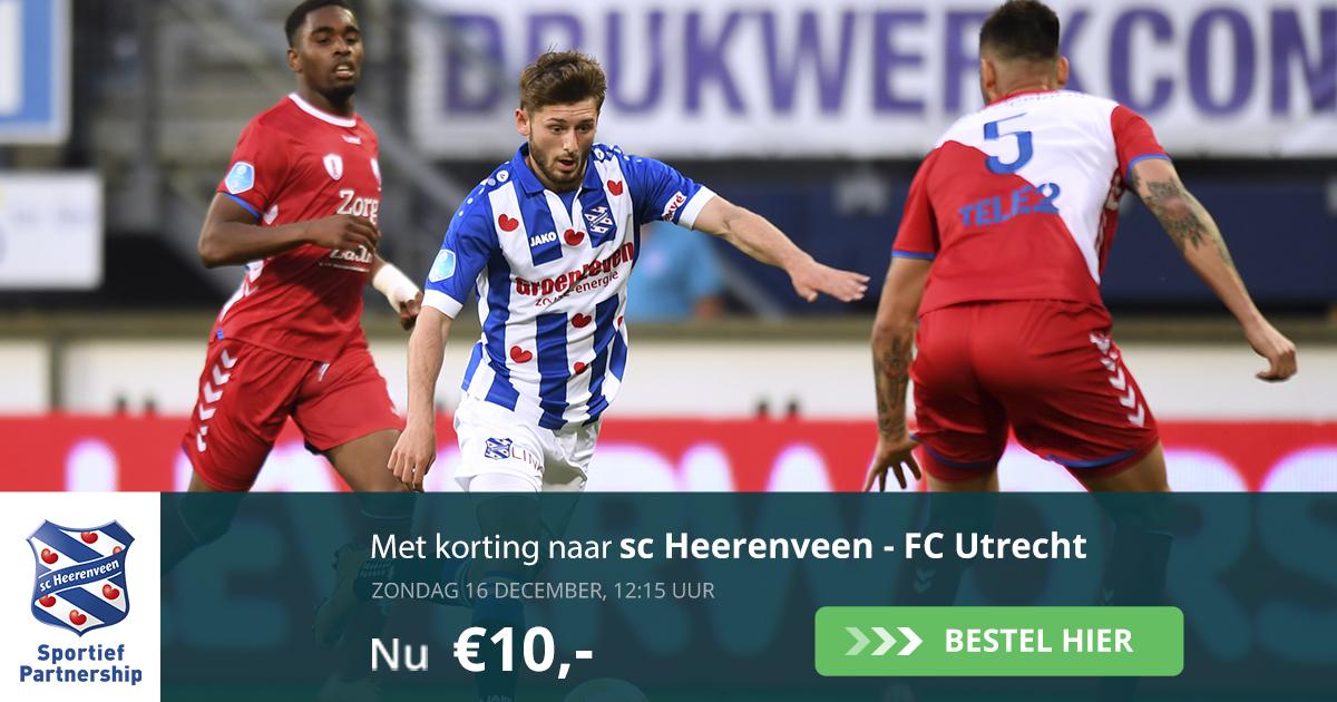 Sc Heerenveen - FC Utrecht (16-12-2018)