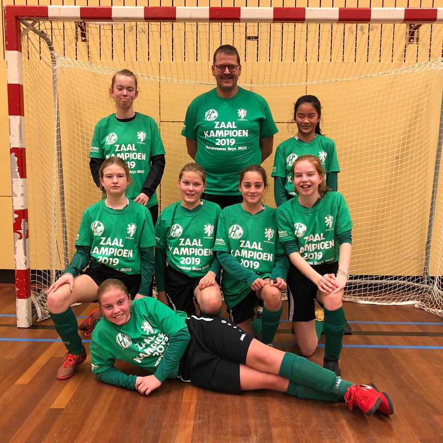 Heerenveense Boys MO13-1 zaalkampioen