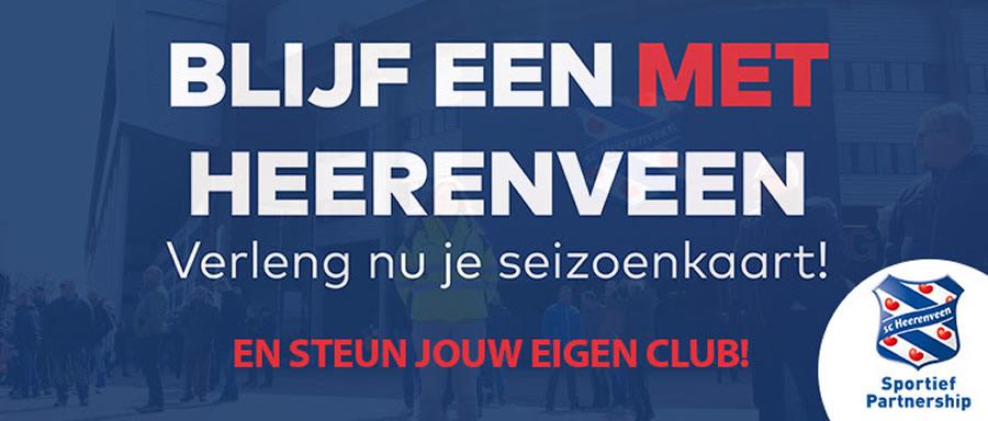 Seizoenkaartactie sc Heerenveen 2019-2020