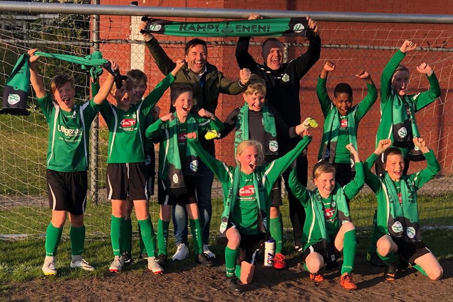 Heerenveense Boys JO11-2 kampioen 2018-2019