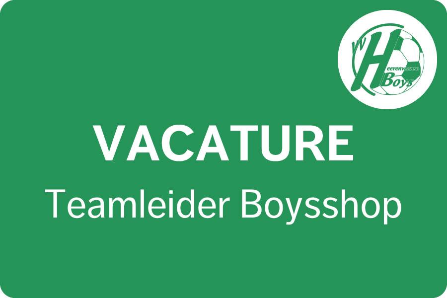Vacature Teamleider Boysshop Heerenveense Boys