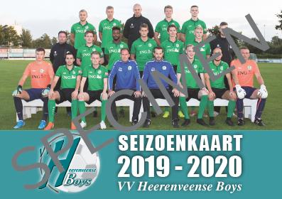 Seizoenkaart Heerenveense Boys 2019-2020