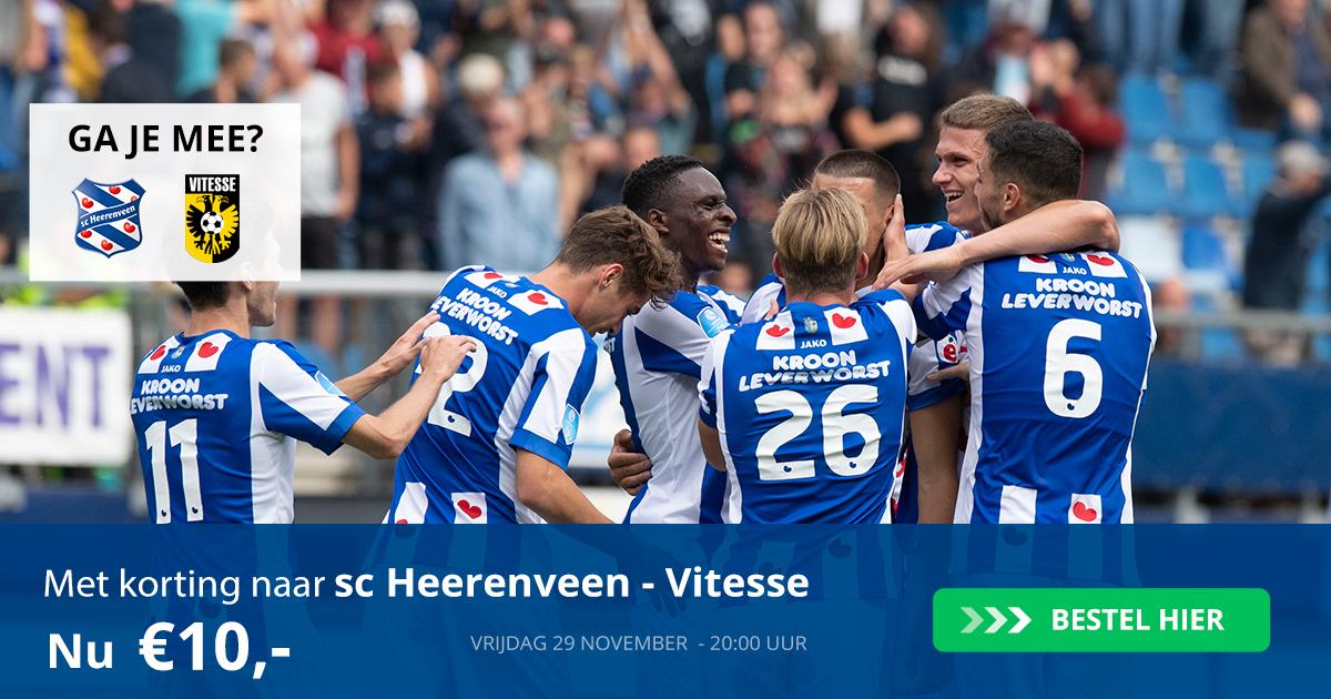 Kaartverkoopactie sc Heerenveen - Vitesse (29-11-2019)