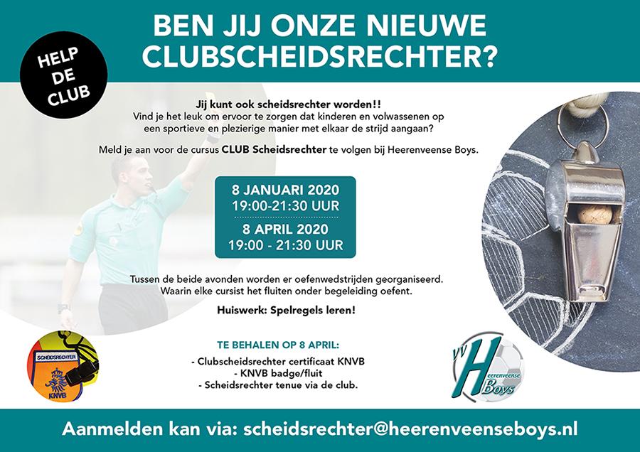 Cursus clubscheidsrechter Heerenveense Boys