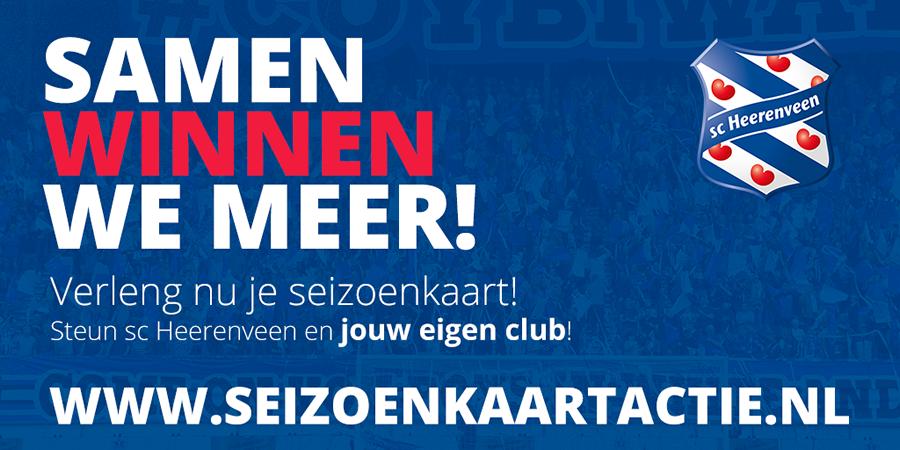 Seizoenkaartactie 2020-2021 sc Heerenveen