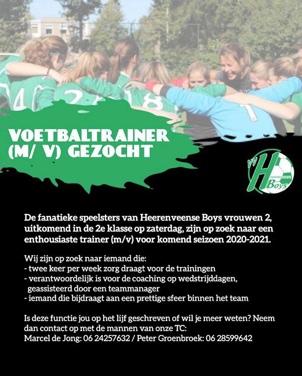 Vacature Trainer Heerenveense Boys Vrouwen 2