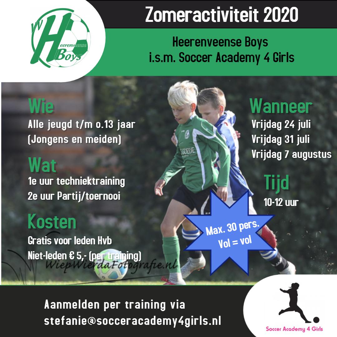 Zomeractiviteit 2020 Heerenveense Boys