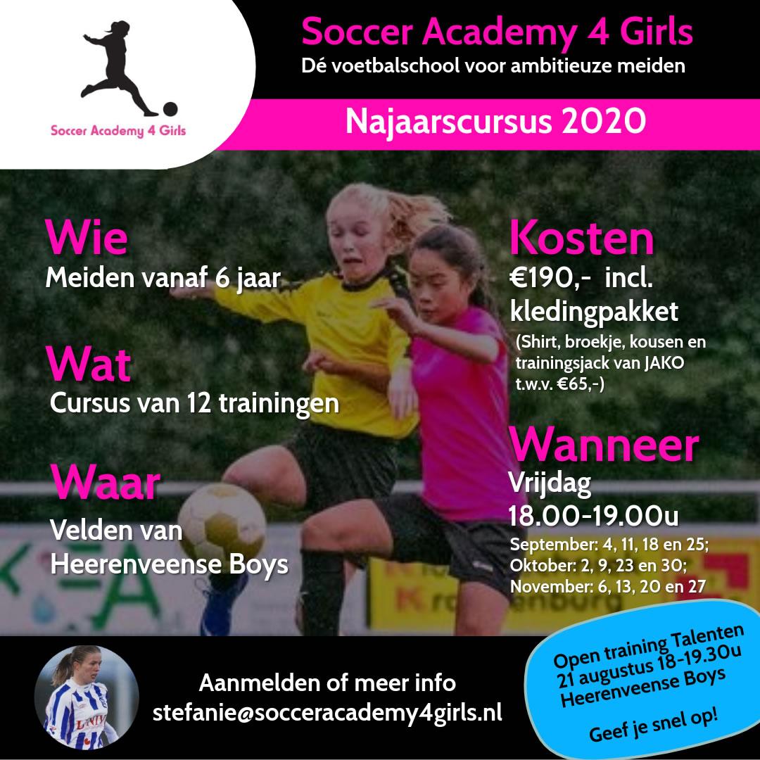 Najaarscursus SA4G 2020-2021 Heerenveense Boys