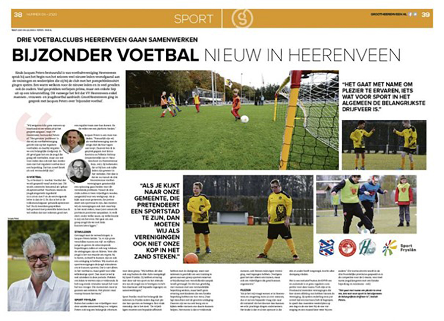 Bijzonder voetbal Heerenveen